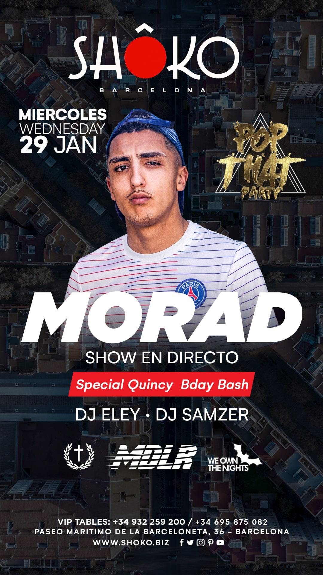 Pop That Party | MORAD in concert